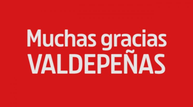 Muchas gracias Valdepeñas